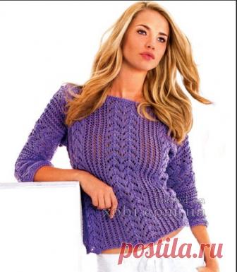 сиреневый пуловер — HandMade