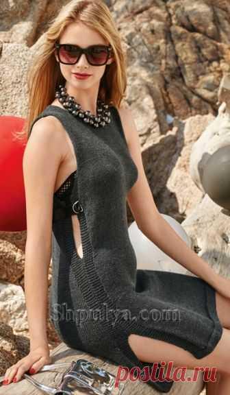 Платье с боковыми разрезами спицами - SHPULYA.com
