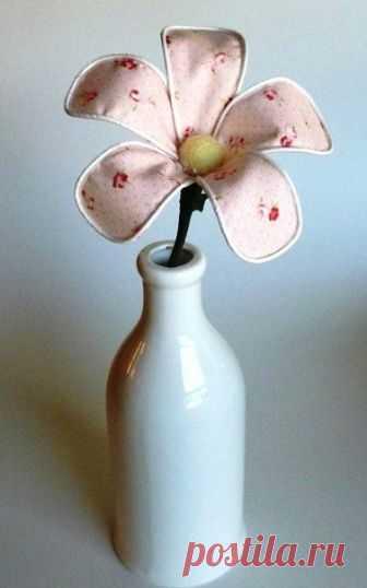 Цветок из ткани — Сделай сам, идеи для творчества - DIY Ideas