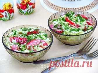 Быстрый и вкусный рецепт с фото салата из сырых кабачков   Простые рецепты с фото