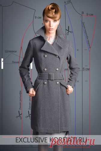 Выкройка классического пальто от Анастасии Корфиати Это шикарное классическое пальто от Gentle Dolls сегодня на пике популярности. Добротное серое сукно надежно защитит вас. Выкройка классического пальто