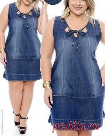 Платье прямое платье джинсы с вырезами - DIY - прессформа, вырезывание и шить - Марлен Mukai Схема моделирования платье прямое платье джинсы с вырезами, размер 36, к 56.