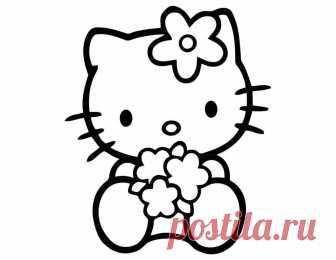 раскраски хелло китти Hello Kitty распечатать бесплатно