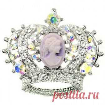 Брошь корона 0198356 купить с доставкой по Москве и всей РФ | Интернет-магазин Stilnayakoshka.ru
