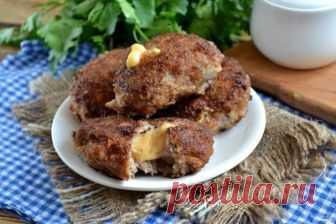 Котлеты из фарша с начинкой - пошаговый рецепт с фото на Повар.ру
