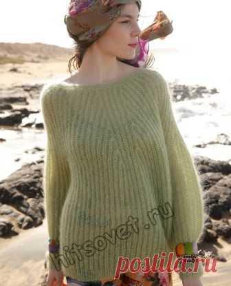 Широкий пуловер патентной резинкой - Хитсовет