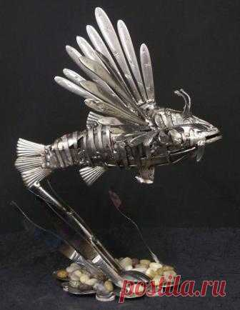 Sculptures from tableware | worldhobbies.ru