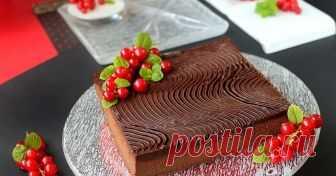 Шоколадов фондан с маскрапоне  по Сирил Линяк