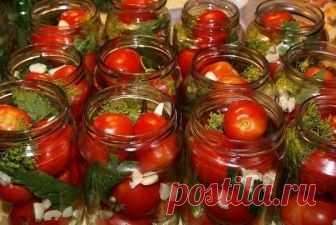 10 рецептов консервирования помидорок!  1. ТОМАТЫ