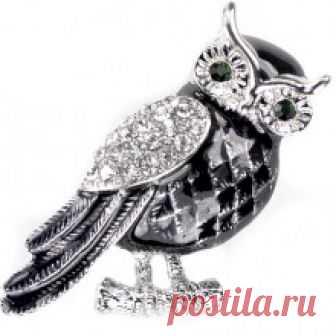 Брошь сова 240311 купить с доставкой по Москве и всей РФ | Интернет-магазин stilnayakoshka.ru