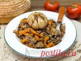 Плов из гречки со свининой — рецепт с фото Плов из гречки со свининой - блюдо простое, не затратное, вкусное.
