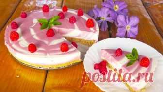 Торт без выпечки за 15 минут! Нереально вкусно, быстро и просто! Тортик получается очень вкусный и полезный, поскольку в нем сохраняться витамины, которые содержатся в твороге и малине. На его приготовление уходит всего лишь 15 минут, плюс время для застывания 4 часа.