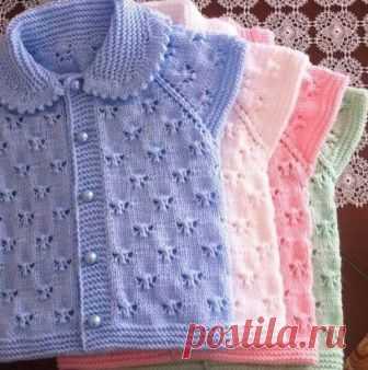 узоры для вязания детских кофточек спицами вяжем детям узор для