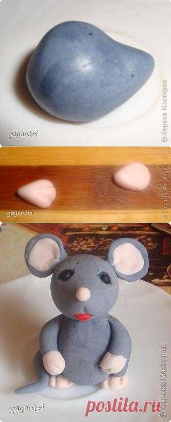 Мышка из мастики. Вот такой вот вкусный вышонок для тортиков из мастики.