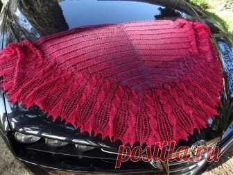 Вязание спицами для женщин Шаль Hundert Design by Sue Berg