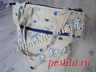 50d84f2f5d28 Летняя сумка из ткани своими руками для начинающих - мастер класс с фото