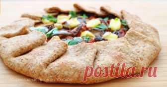 Простой рецепт вкусного и легкого пирога с овощами Тончайшее тесто и сочные овощи!