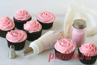 Крем для капкейков: рецепт на сайте Всё о десертах
