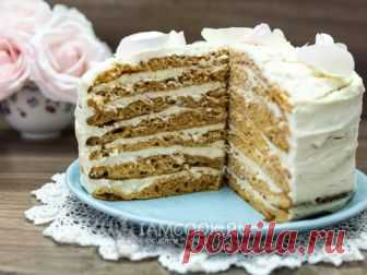 Dairy Girl cake with cottage cheese cream — the recipe with a photo we Cook traditional cake with nonconventional cake layers.
