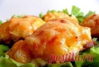 Курица, запеченная с ананасами и сыром — Кулинарная книга - рецепты с фото