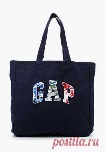 Сумка Gap  за 2 099 руб. в интернет-магазине Lamoda.ru Сумка-шоппер Gap выполнена из хлопкового холщового текстиля. Детали: 1 отделение без застежки, внутри 1 карман без застежки, длинные ручки.