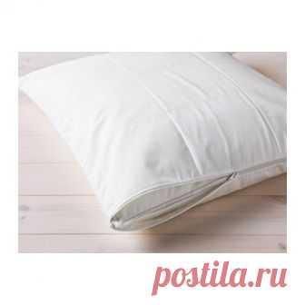 КУНГСМИНТА   Наперник    Доставка товаров из IKEA   VAMDODOMA Защитный чехол продлит срок службы подушки и защитит подушку от пыли и загрязнений.