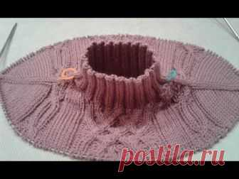 Метод непрерывного вязания спицами. Свитер с аранами. Часть 2. Кnit sweater.