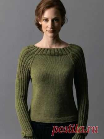 пуловер с рукавом реглан и бабочками простой пуловер спицами для
