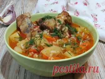 Очень вкусный наваристый и густой суп с овощами, картофелем и рисом по-узбекски | Вкуснейшая кухня | Яндекс Дзен