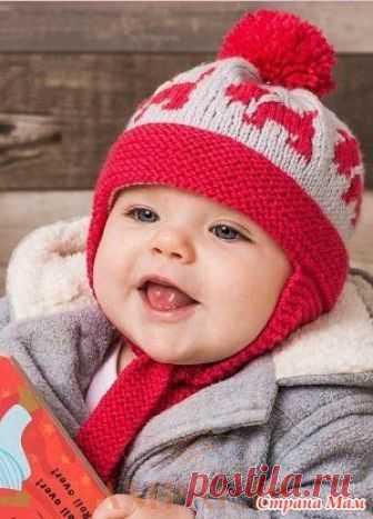 шапочка для малышей Scottie Dog описание вязания шапочки от