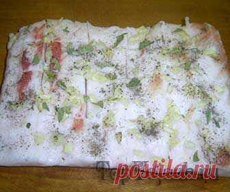 La grasa salada con el ajo | TOPVOJAZH.ru