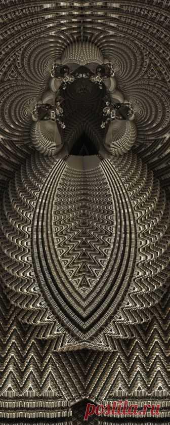 MetallicBaroque, TheKeeper by FractsSH.deviantart.com fractal art made with mandelbulb 3d