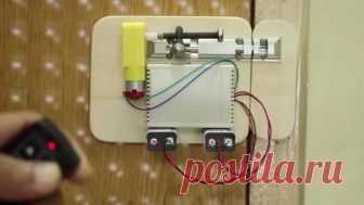 Как сделать простой беспроводной автоматический замок из обычного «шпингалета» без Arduino