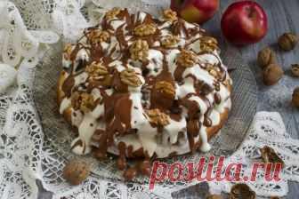 Бисквитный торт с грецкими орехами и сметанным кремом. Пошаговый рецепт с фото — Ботаничка.ru