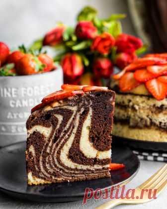 Зебра — самый правильный мраморный кекс от Аndy chef