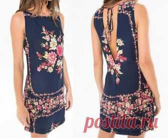Платье, прямое платье с V-образным вырезом на спине - DIY - прессформа, вырезывание и шить - Марлен Mukai