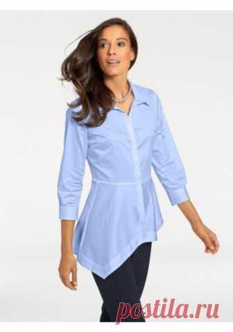 20a425274f5 Удлиненная блузка цвет  синий арт  27938263 купить в Интернет магазине  Quelle за 3299.00 руб