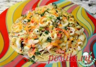 Кальмары в сливочном соусе - кулинарный рецепт