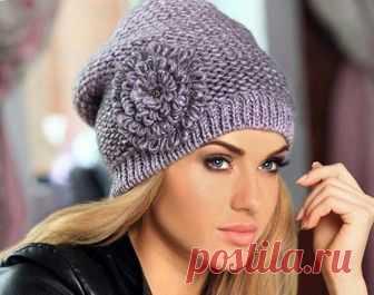 модные женские вязаные шапки 2018 фото схемы с описанием осень