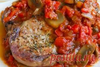 Свинина под соусом в духовке