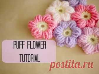 CROCHET: How to crochet a puff flower   Bella Coco