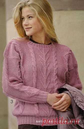 Пуловер с незамысловатым узором, смотрится очень нежно и женственно!(blog natalianisimova )