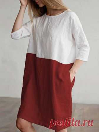 9ca0b29f54538 Women Daily 3/4 Sleeve Cotton Pockets Summer Dress Buy Casual Dresses For  Women at