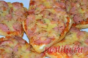 Бутерброд-пицца или пицца на хлебе