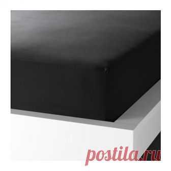 ДВАЛА | Простыня натяжная |  Доставка товаров из IKEA | VAMDODOMA Плотная, прочная и мягкая ткань.Хлопок – мягкий и приятный на ощупь материал.Натяжная простыня на резинке подходит для матрасов толщиной до 26 см.