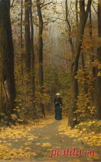 El paseo en el bosque. 1883. polenov el S. D (1844-1927)