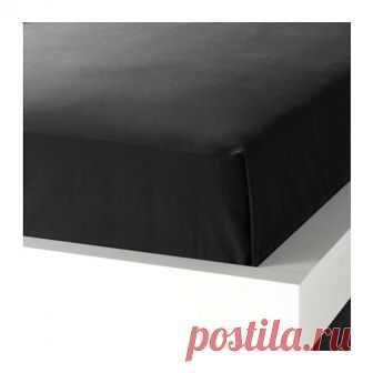 ДВАЛА | Простыня |  Доставка товаров из IKEA | VAMDODOMA Хлопок – мягкий и приятный на ощупь материал.Плотная, прочная и мягкая ткань.Подходит для кроватей шириной 160–180 см.