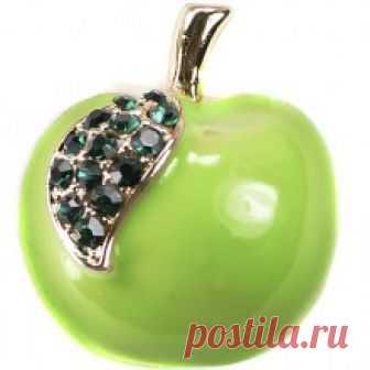 Купить брошь яблоко351716 бижутерия в Москве