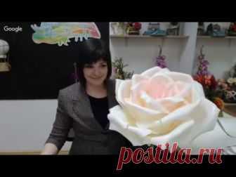 La clase maestra gratuita «la Rosa del isoseno». El maestro Natalia Drozdova.