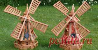 Декоративная мельница своими руками Пошаговая инструкция изготовления и сборки ветряной мельницы. Она небольшая, около метра в высоту, поэтому очень лаконично впишется в небольшой дачный участок, вам и соседям на радость.